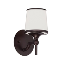 Picture for category Bathroom Vanity 1 Light With English Bronze Finish Incandescent Bulbs 6 inch 100 Watts