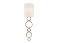 Picture for category Wall Sconces 1 Light With Argentum Finished Metal/Fabric C Bulb 8 inch 60 Watts