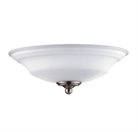 Picture for category Fan Light Kits 2 Light With Brushed Pewter Tone Finish G9 Bulbs 12 inch 100 Watts