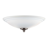 Picture for category Fan Light Kits 2 Light With Brushed Pewter Tone Finish G9 Bulbs 14 inch 100 Watts
