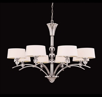 Picture for category Chandeliers 8 Light With Polished Nickel Tone Finish G9 Bulbs 41 inch 320 Watts