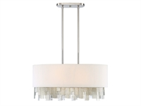 Picture for category Island Lighting 6 Light With Polished Nickel Finish Metal/Glass E Bulb 16 inch 600 Watts