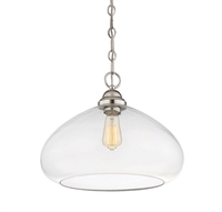Picture for category Pendants 1 Light With Polished Nickel Finish Incandescent Bulbs 16 inch 100 Watts