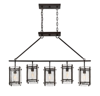 Picture for category Island Lighting 5 Light With English Bronze Finish Incandescent Bulbs 7 inch 500 Watts
