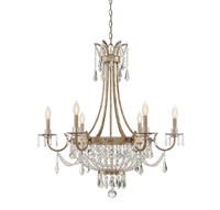Picture for category Chandeliers 6 Light With Aalite Finished Candelabra Base Bulbs 33 inch 360 Watts