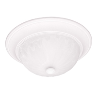 Picture for category Flush Mounts 2 Light With Matte White Finish Incandescent Bulbs 13 inch 120 Watts