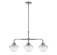 Picture for category Island Lighting 3 Light With Chrome Finish Incandescent Bulbs 10 inch 180 Watts