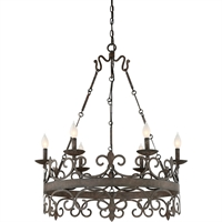 Picture for category Chandeliers 6 Light With Feildstone Finished Candelabra Bulbs 34 inch 360 Watts