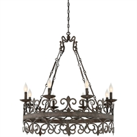 Picture for category Chandeliers 8 Light With Feildstone Finished Candelabra Bulbs 36 inch 480 Watts