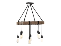 Picture for category Pendants 8 Light With Durango Tone Finished Incandescent Bulbs 22 inch 800 Watts