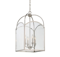 Picture for category Pendants 4 Light With Polished Nickel Finish Candelabra Bulbs 15 inch 240 Watts