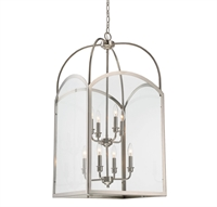 Picture for category Pendants 8 Light With Polished Nickel Finish Candelabra Bulbs 18 inch 480 Watts