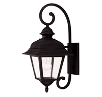Picture for category Wall Sconces 1 Light With Textured Black Finish Incandescent Bulbs 9 inch 60 Watts