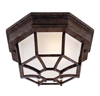 Picture for category Outdoor Wall Sconces 1 Light With Rustic Bronze Finished E Bulbs 9 inch 60 Watts