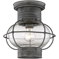 Picture for category Outdoor Wall Sconces 1 Light With Oxidized Black Finish E Bulbs 10 inch 60 Watts