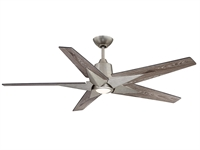 Picture for category Indoor Ceiling Fans 1 Light W/ Aged Pewter Metal/Glass/Plywood LED 56 inch 18 W