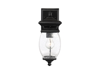 Picture for category Wall Sconces 1 Light With Black Finish Metal/Glass Material C Bulb 6 inch 100 Watts