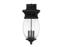 Picture for category Wall Sconces 3 Light With Black Finish Metal/Glass Material C Bulb 9 inch 120 Watts