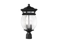 Picture for category Outdoor Post 2 Light With Black Finish Metal/Glass Material C Bulb 7 inch 120 Watts