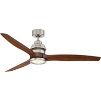 Picture for category Indoor Ceiling Fans With Satin Nickel Tone Finish Metal Glass ABS Material 60 inch