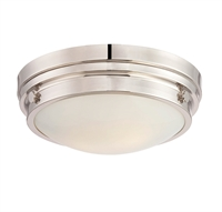 Picture for category Flush Mounts 2 Light With Polished Nickel Finish Incandescent Bulbs 13 inch 120 Watts