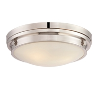 Picture for category Flush Mounts 3 Light With Polished Nickel Finish Incandescent Bulbs 15 inch 180 Watts