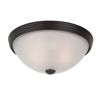 Picture for category Flush Mounts 2 Light With English Bronze Finish Incandescent Bulbs 11 inch 80 Watts