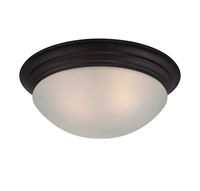 Picture for category Flush Mounts 2 Light With English Bronze Finish Incandescent Bulbs 13 inch 120 Watts