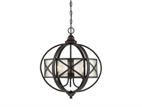 Picture for category Pendants 3 Light With English Bronze Finish Metal/Glass C Bulb 19 inch 180 Watts