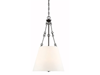 Picture for category Pendants 4 Light With English Bronze Finish Metal/Fabric C Bulb 18 inch 240 Watts