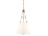 Picture for category Pendants 4 Light With Warm Brass Finished Metal/Fabric C Bulb 18 inch 240 Watts