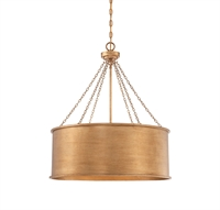 Picture for category Pendants 6 Light With Gold Patina Finished Incandescent Bulbs 25 inch 600 Watts