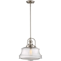 Picture for category Pendants 1 Light With Polished Nickel Finish Incandescent Bulbs 14 inch 100 Watts