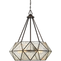 Picture for category Pendants 5 Light With Oiled Burnished Bronze Finished E Bulbs 28 inch 500 Watts