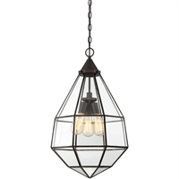 Picture for category Pendants 3 Light With English Bronze Finish Incandescent Bulbs 16 inch 180 Watts