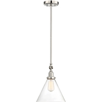 Picture for category Pendants 1 Light With Polished Nickel Finish Incandescent Bulbs 10 inch 100 Watts