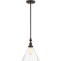 Picture for category Pendants 1 Light With English Bronze Finish Incandescent Bulbs 10 inch 100 Watts