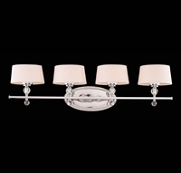 Picture for category Bathroom Vanity 4 Light With Polished Nickel Finished G9 Bulbs 35 inch 160 Watts