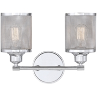 Picture for category Bathroom Vanity 2 Light With Polished Chrome Finish Steel E Bulb 16 inch 200 Watts