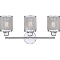 Picture for category Bathroom Vanity 3 Light With Polished Chrome Finish Steel E Bulb 24 inch 300 Watts