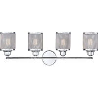 Picture for category Bathroom Vanity 4 Light With Polished Chrome Finish Steel E Bulb 34 inch 400 Watts