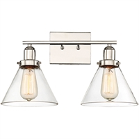 Picture for category Bathroom Vanity 2 Light With Polished Nickel Finished E Bulbs 18 inch 200 Watts