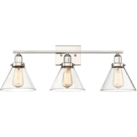 Picture for category Bathroom Vanity 3 Light With Polished Nickel Finished E Bulbs 28 inch 300 Watts