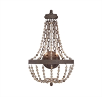Picture for category Wall Sconces 2 Light With Fossil Stone Finish Candelabra Bulbs 14 inch 120 Watts