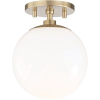 Picture for category Mitzi By Hudson Valley H105601-AGB Semi Flush Aged Brass Metal Glass Stella