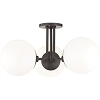 Picture for category Mitzi By Hudson Valley H105603-OB Semi Flush Old Bronze Metal Glass Stella