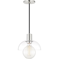 Picture for category Mitzi By Hudson Valley H107701-PN Pendants Polished Nickel Metal Glass Kyla