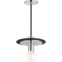 Picture for category Mitzi By Hudson Valley H137701S-PN/BK Pendants Polished Nickel Metal Milo
