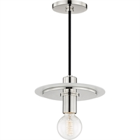 Picture for category Mitzi By Hudson Valley H137701S-PN/WH Pendants Polished Nickel Metal Milo