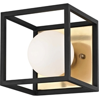 Picture for category Mitzi By Hudson Valley H141301-AGB/BK Bath Lighting Aged Brass Metal Glass Aira